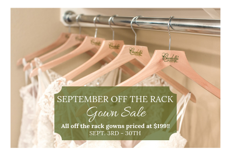 September Off the Rack Gown Sale