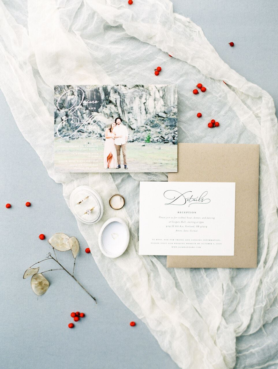 Fine art pastel wedding invitations