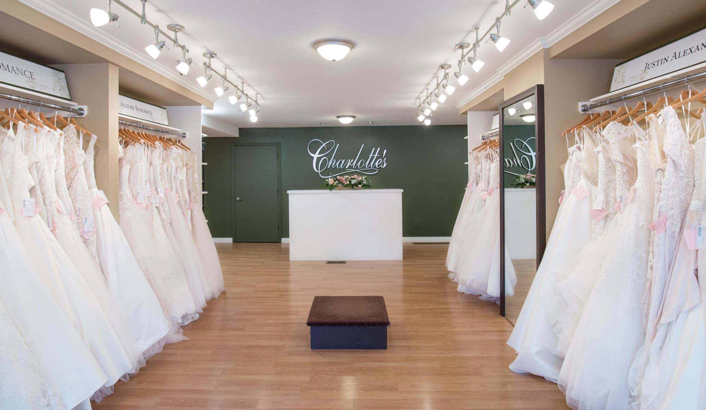 Store with bridal dresses