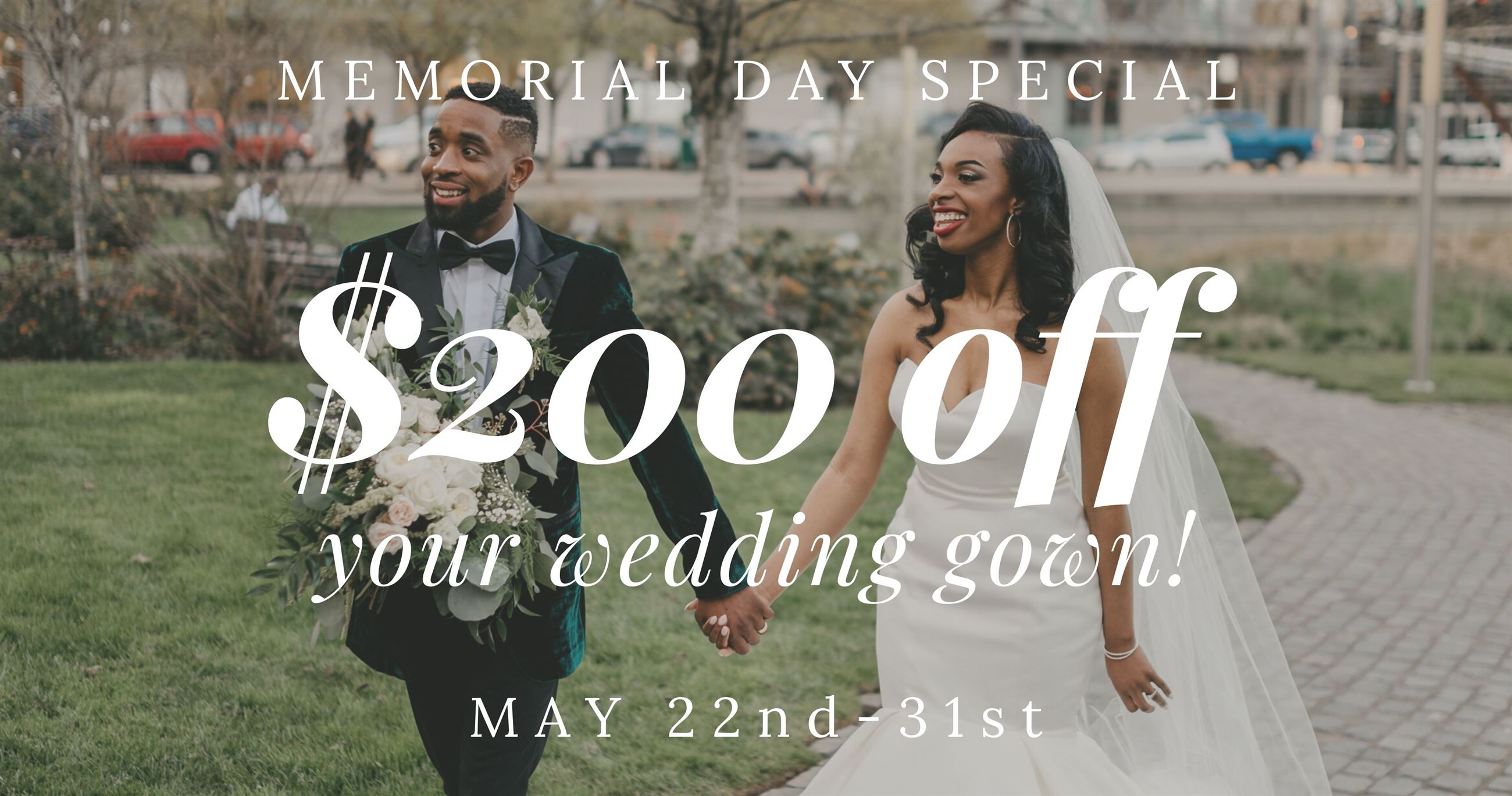 $200 off your wedding gown